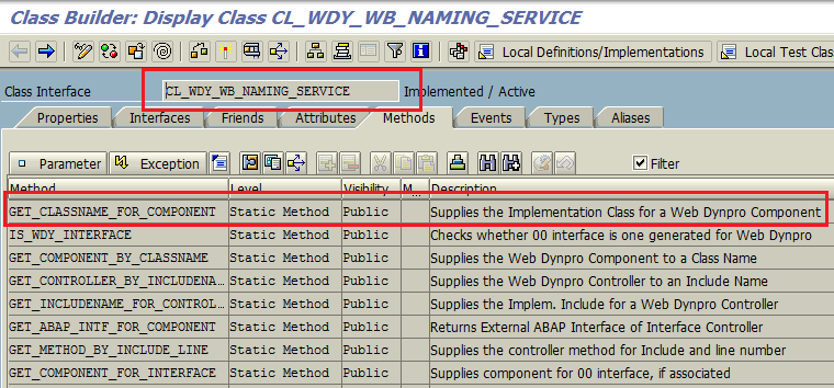 SAP Web Dynpro naming class for ABAP programmer