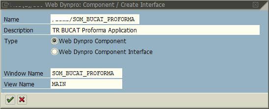 SAP WebDynpro name and description