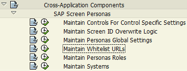 maintain whitelist URLs for SAP Screen Personas