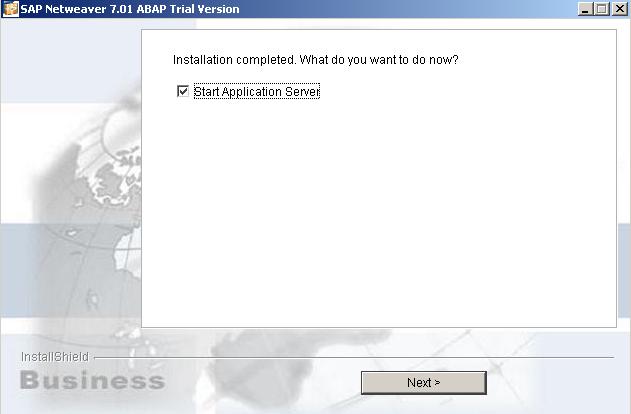 complete SAP Netweaver installation