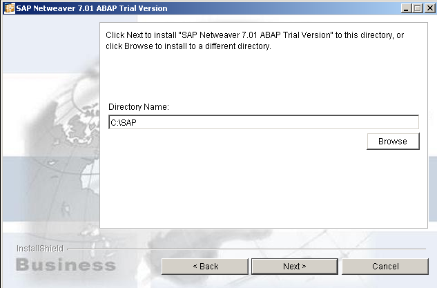 SAP Netweaver installation path