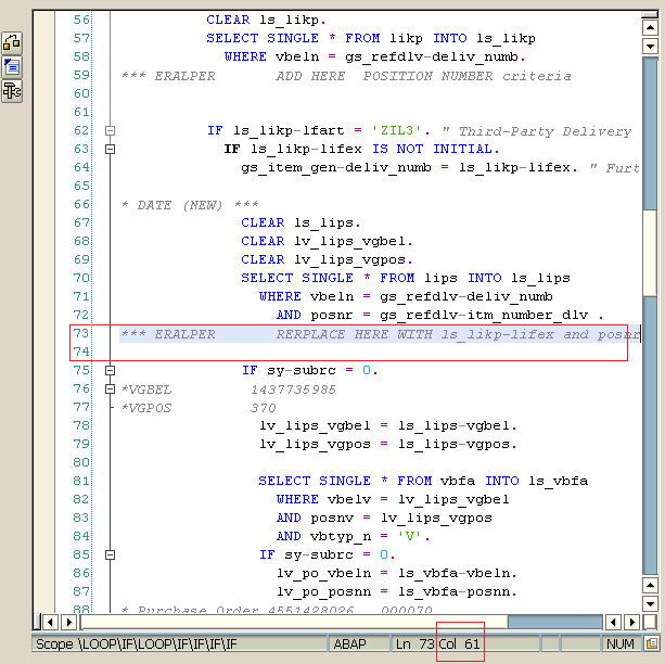 SAP Smartform code editor