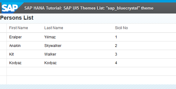 SAP UI5 theme sap_bluecrystal