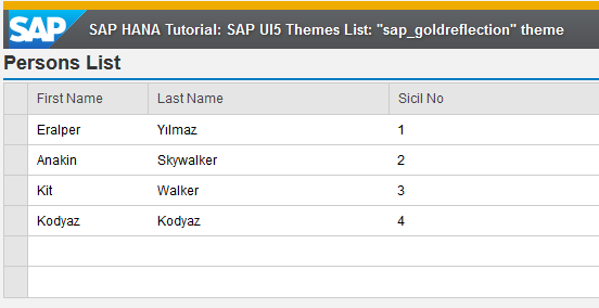 SAP UI5 theme sap_goldreflection