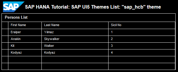SAP UI5 theme sap_hcb
