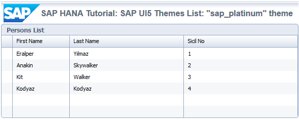 SAP UI5 theme sap_platinum