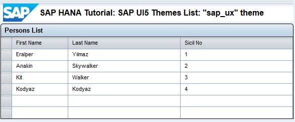 SAP UI5 theme sap_ux