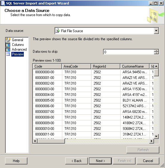 sql-server-2008-r2-import-and-export-wizard-preview-tab