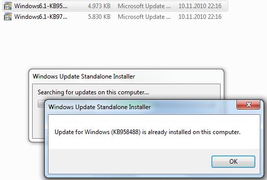 KB958488 installation