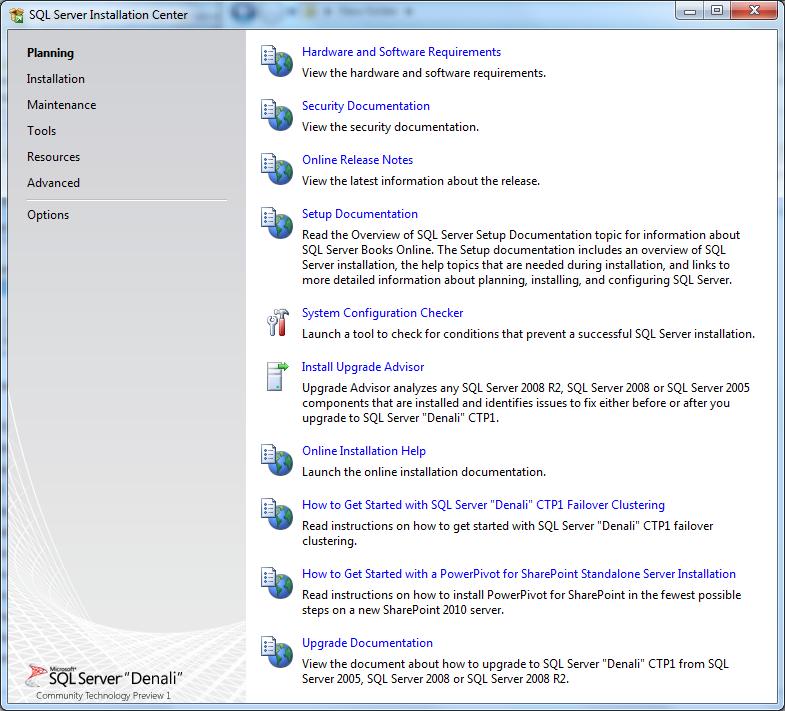 Microsoft SQL Server 2012 installation server