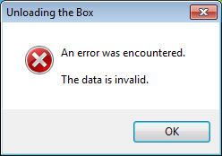 SQL Server 2012 installation error: The data is invalid.