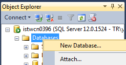 create new memory optmized database in SQL Server 2014
