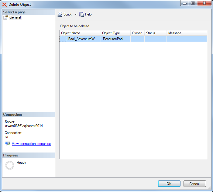 drop resource pool under SQL Server 2014 Resource Governor