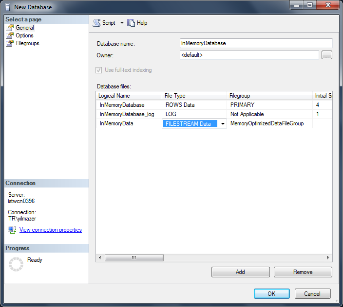 memory optimized data file in SQL Server 2014