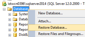 restore sample database AdventureWorks2014 for SQL Server 2014