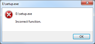Incorrect function SQL Server 2014 setup error