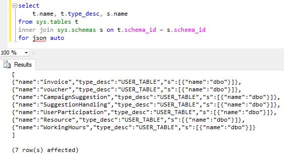 SQL Server 2016 JSON support for database programmer