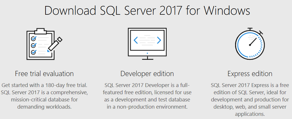 download SQL Server 2017 free