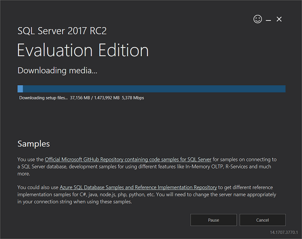 downloading SQL Server 2017 free evaluation edition