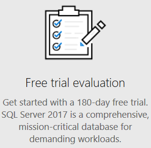 download SQL Server 2017 Trial Evaluation Edition free