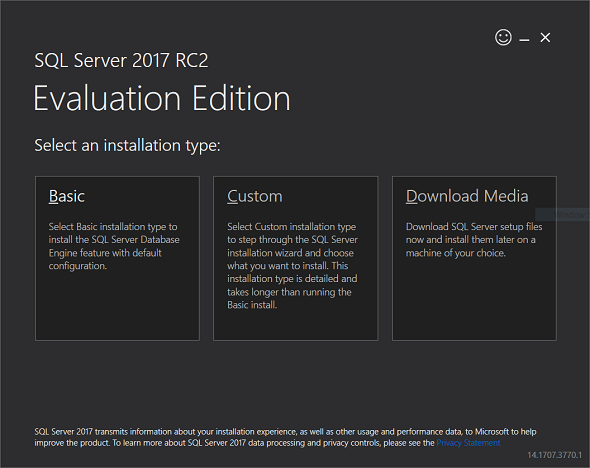 download SQL Server 2017 free using setup tool
