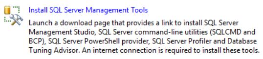 Install SQL Server Management Tools