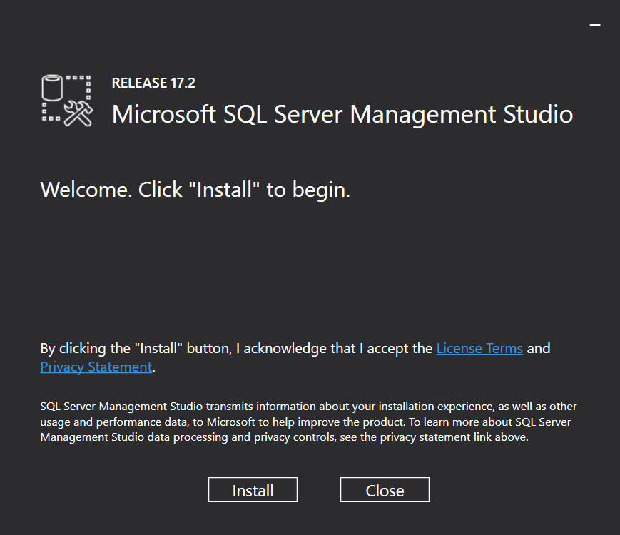SQL Server 2017 Management Studio v17.2