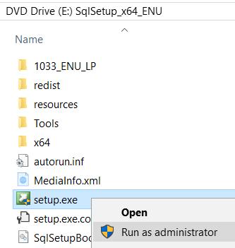 SQL Server 2017 Installer