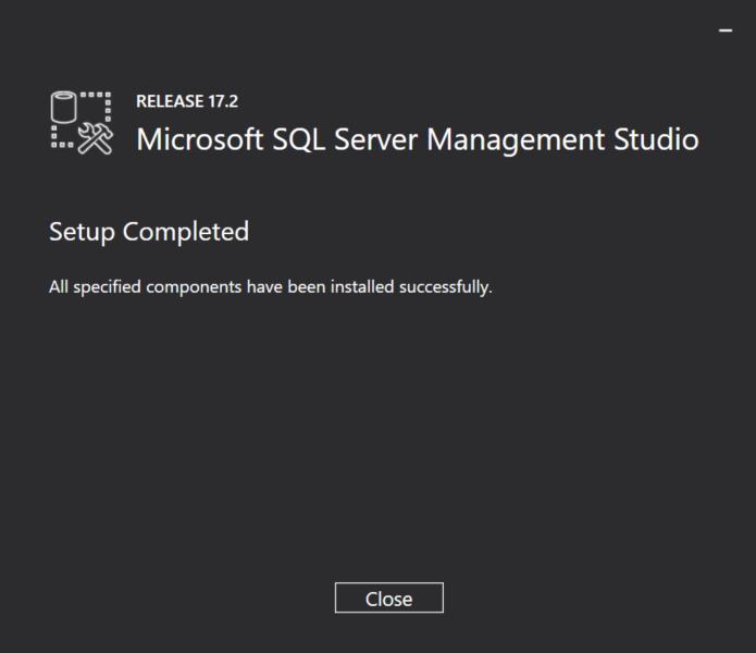 SQL Server Management Studio for SQL Server 2017