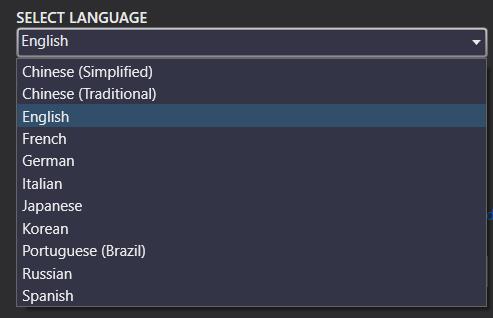 SQL Server 2017 setup languages list