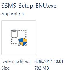 SQL Server Management Studio installer SSMS-Setup-ENU.exe