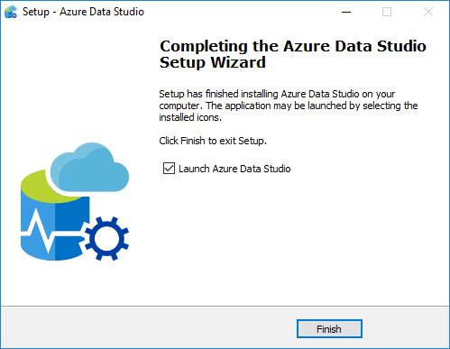 Azure Data Studio installation completed