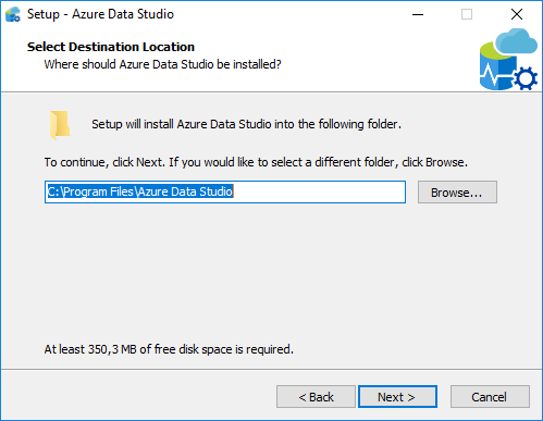 Azure Data Studio setup folder