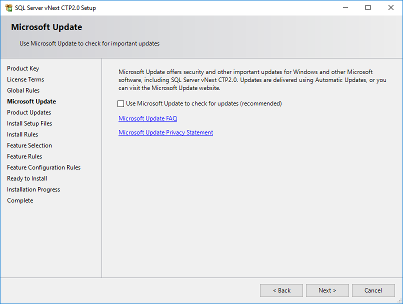 check for updates from Microsoft Update