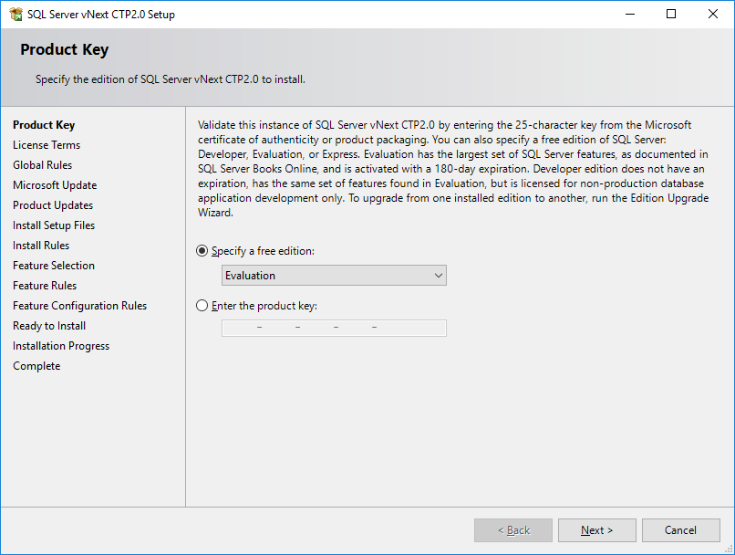 SQL Server 2019 Evaluation Edition as free edition