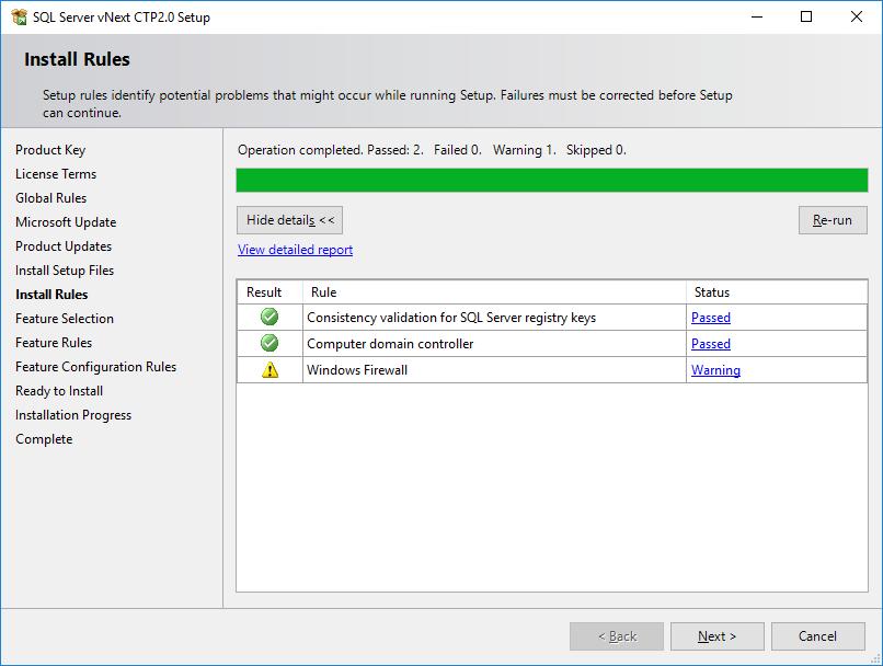 Install Rules for SQL Server 2019 setup