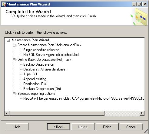 sql-server-2008-r2-maintenance-plan-summary