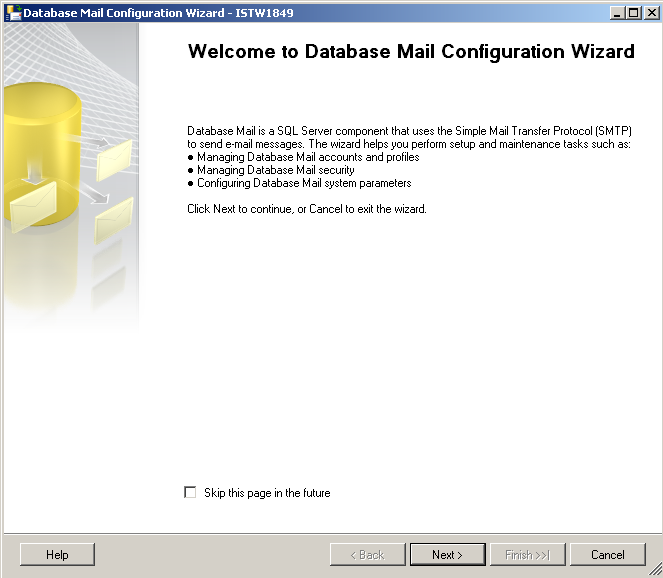 sql-server-database-mail-configuration-wizard