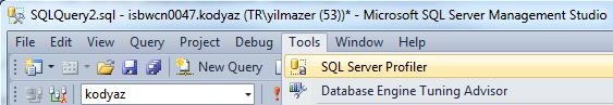 SQL Server Profiler tool