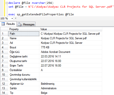 read extended file properties from SQL Server using CLR stored procedure