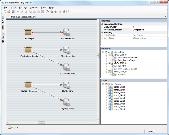 Script Executor SQL Server tool by xSQL Software - execute sql scripts against multiple databases