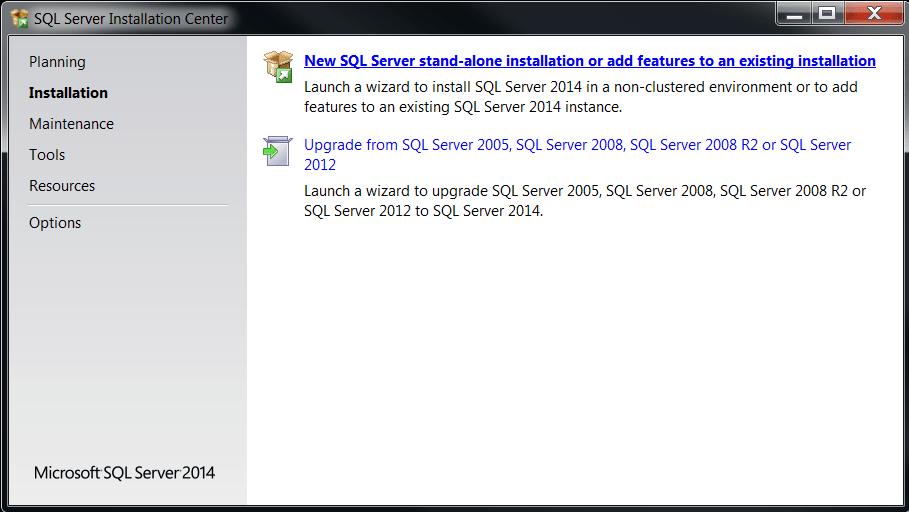 SQL Server Data Tools for SQL Server 2014 setup