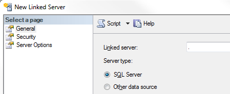 new SQL Server linked server