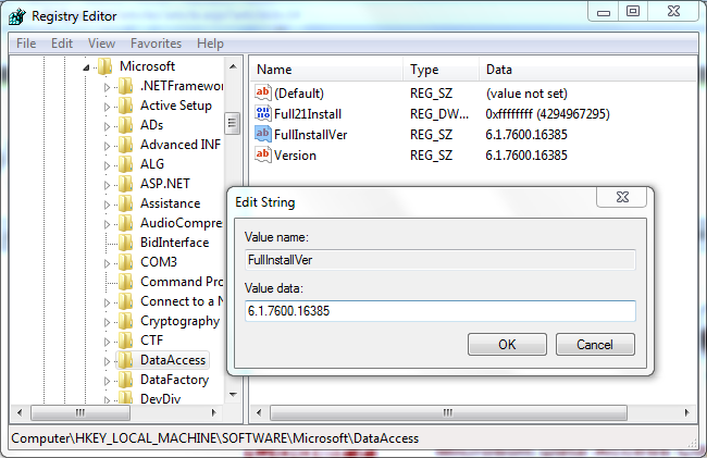 how to find which version of sql server are installed