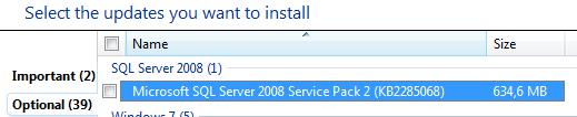 Microsoft SQL Server 2008 Service Pack 2 kb2285068