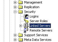 SQL Server linked server