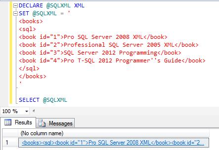 Query XML data using SQL XML in SQL Server