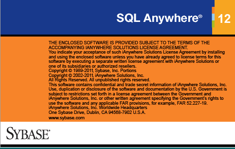 download Sybase SQL Anywhere 12 database software