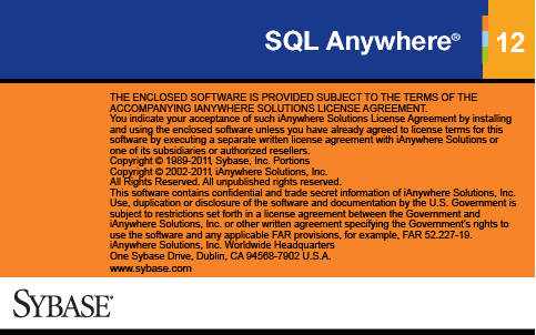 Sybase SQL Anywhere 12
