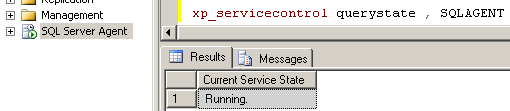 xp_servicecontrol-sql-server-agent-service-running